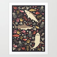 feet Art Prints featuring Oceanica by Anna Deegan