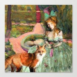 Tea in the Garden of Alnwick Canvas Print