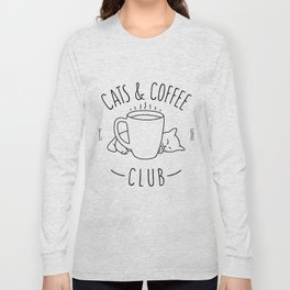 Cats and Coffee club Long Sleeve T-shirt