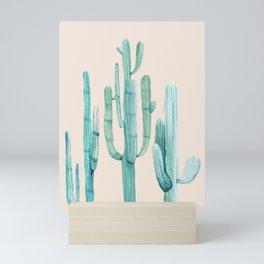 Three Amigos Turquoise + Coral Mini Art Print