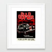 regular show Framed Art Prints featuring Ello Gov'nor! Regular Show by Mark Welser