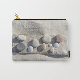 Beach pebble driftwood still life Carry-All Pouch