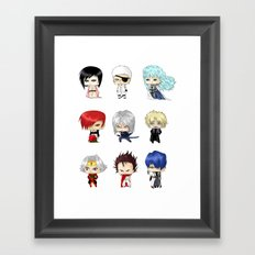Chibi Psychopaths Framed Art Print