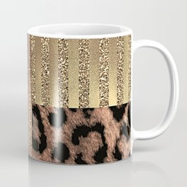 Gold Lioness Safari Chic Coffee Mug