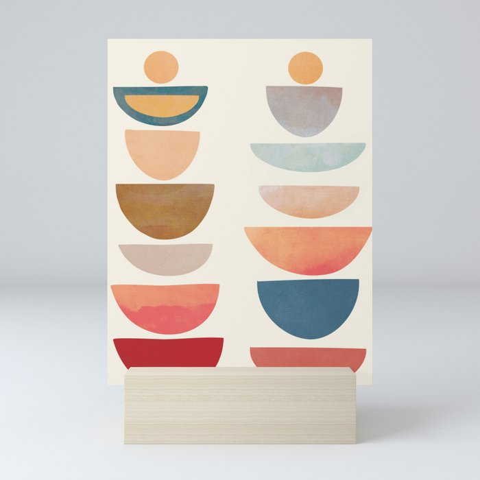 Modern Abstract Art 75 Mini Art Print