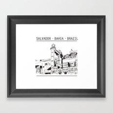 Salvador - Bahia - Brazil Framed Art Print
