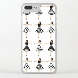 Black and white dolls Clear iPhone Case