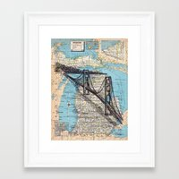 michigan Framed Art Prints featuring Michigan by Ursula Rodgers