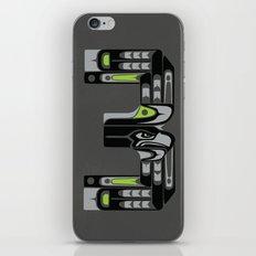 Seattle 3 - Black iPhone & iPod Skin