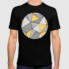 Pattern, grey - yellow Mens Fitted Tee Black MEDIUM
