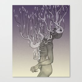 Violent Static Canvas Print