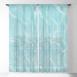 Pool Dream #5 #water #decor #art #society6 Sheer Curtain