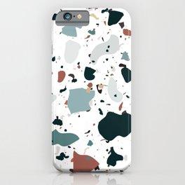 Large Rainbow Terrazzo iPhone Case