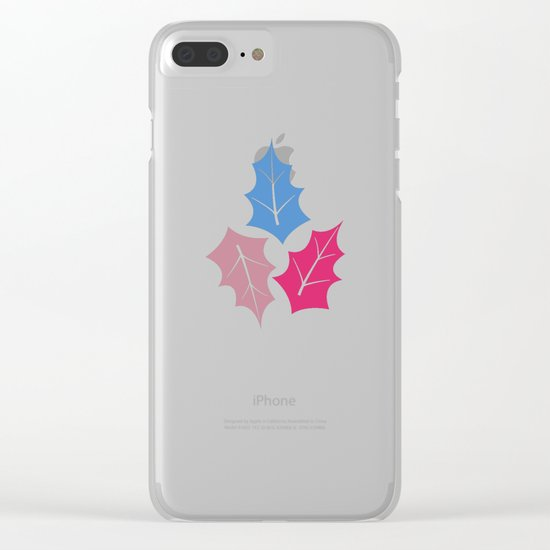 Colorful leaves II Clear iPhone Case