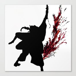 The Ronin swings his blade Canvas Print