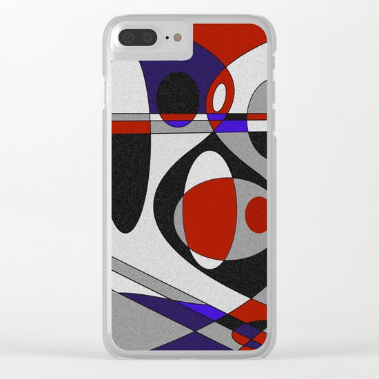 Abstract #93 Clear iPhone Case