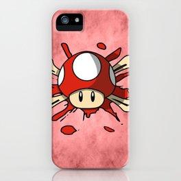 Red Mushroom Crossbones iPhone Case