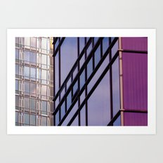 Downtown Purple Art Print