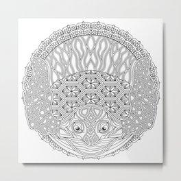 Sea Turtle Mandala Color Your Own Art Metal Print