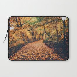 Autumn Walk New York City Laptop Sleeve