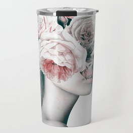 WOMAN WITH FLOWERS 11 Travel Mug