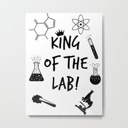 King of The Lab 2 Metal Print