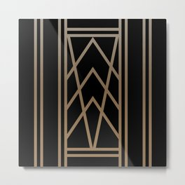 BLACK&GOLD 2 (abstract artdeco geometric) Metal Print