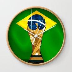 Brazil 2014 Wall Clock