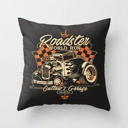 Hot Rod Classic Car Throw Pillow