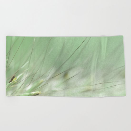 Grasses In The Morning  Beach Towel