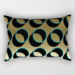 Tubes on Gold Rectangular Pillow