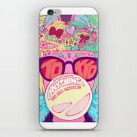 travel poster iPhone & iPod Skins featuring Tokyo Travel Poster by Caitlin Quirk