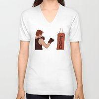 foo fighters V-neck T-shirts featuring Foo Fighter by Rachcox