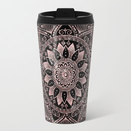 Elegant rose gold mandala dots and marble artwork Travel Mug