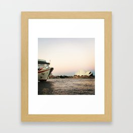 The Quay before dusk Framed Art Print