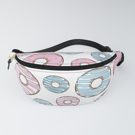 Pattern Of Donuts, Pink Donuts, Blue Donuts Fanny Pack