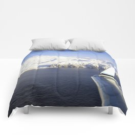 Wing view of Adak, Alaska Comforters