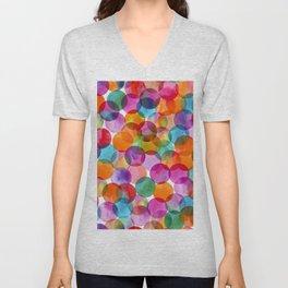 colorful dots Unisex V-Neck