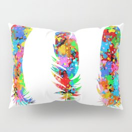 colorful feathers Pillow Sham