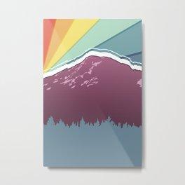 Rainbow Rainier Metal Print