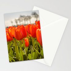 Tulips standing tall Stationery Cards