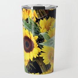 Happy Sunflowers Travel Mug