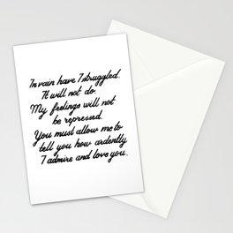 Austen Mr. Darcy Stationery Cards
