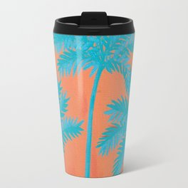 Turquoise Palms Travel Mug
