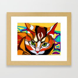 A Cat Named Cat Framed Art Print