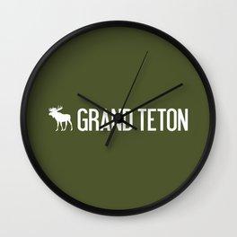 Grand Teton Moose Wall Clock