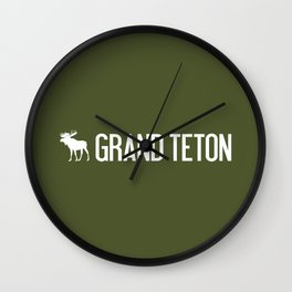 Grand Teton Moose Wall Clock