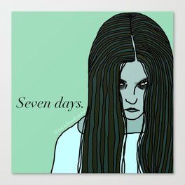 Female Trouble Series: Samara from The Ring Canvas Print