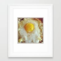 egg Framed Art Prints featuring Egg by Yellow Barn Studio