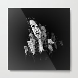 Woman Fed Up, Angry and Stressed Out Metal Print